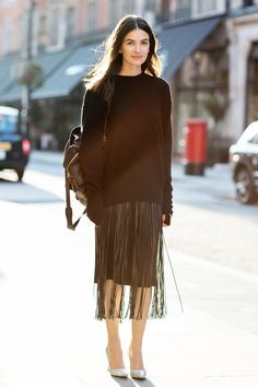 fringe skirted