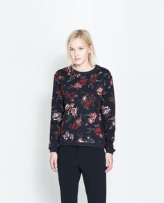 ZARA - TRF - SWEATSHIRT ESTAMPADO ANIMAL I just loved it!!! <3