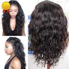 8A Full Lace Human Hair Wigs For Black Women Brazilian Virgin Hair Full Lace Wigs Water Wave Glueless Lace Front Human Hair Wigs
