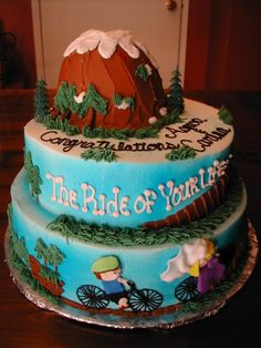 """Mountain Bike bridal shower cake """"The Ride of Your Life"""""""