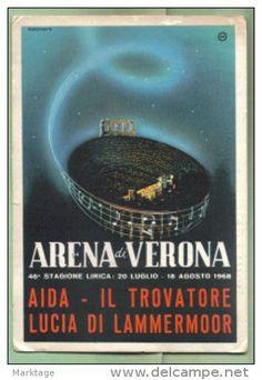 Verona-Aida 46° stagione Lirica 1968 - Delcampe.it