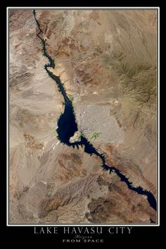 Terra Prints aerial satellite posters depicting views of Earth are incredible! They give you an amazing new sense of where you live, work or play. Lake Havasu City Arizona, Arizona City, Satellite Maps, Fishing Photography, Best Hikes, Water Crafts, Go Camping, Places To See, National Parks