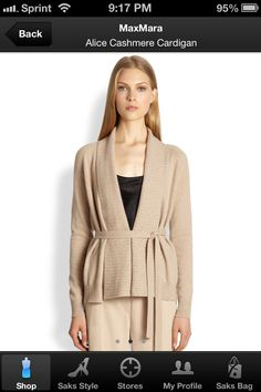 Tan loose belted sweater