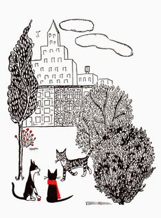 """atelier pour enfants: """"Jenny and the Cat Club"""" 2 Children's Book Illustration, Cat Illustrations, Fashion Sketchbook, The Gathering, Cat Art, Golden Age, Childrens Books, Art Photography, Creations"""
