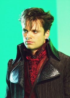 Sebastian Stan as Jefferson the Mad Hatter from Once Upon A Time...my heart isn't beating like it should...