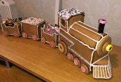 Ginger bread train - inspired by last journey.