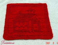 Ravelry: Little Red Schoolhouse Knitted Dishcloth pattern by Melissa Bergland Burnham