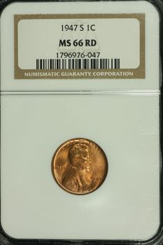 #HT 1958-D NGC MS66 RED Lincoln Wheat Cent!
