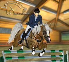 Arabian from Star Stable Online - edit © Esme Silverforce