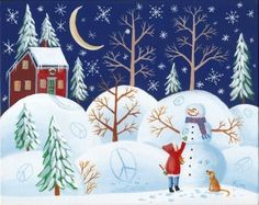 Peace Folk Art Print by KimsCottageArt on Etsy, $12.95