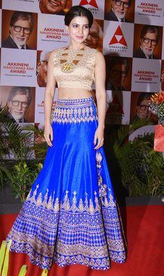 Brilliant Actor @SamanthaPrabhu2 even more Beautiful in http://shop.AnitaDongre.com/ #Lehenga & http://www.amrapalijewels.com/index.php (Dec, 14)