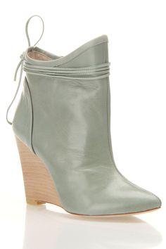Plomo Camile Booties In Aqua Leather