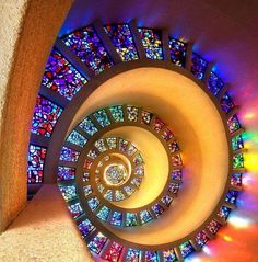 Stained glass swirls too