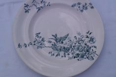 Vintage Longwy French Dinner Plates Set of Four by FrenchPastTimes