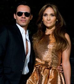 """Marc Anthony and Jennifer Lopez at the """"Fiesta Latina"""" Concert in 2009 at The White House"""
