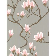Buy Cole & Son Magnolia Wallpaper, Silver / Pink, Online at johnlewis.com