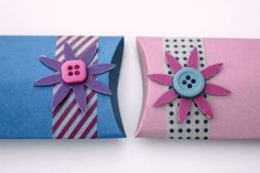 How to make your own pillow boxes without a template. You can easily make them in any size.