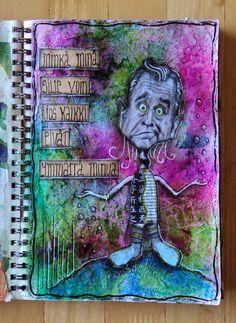 """Art Journal by *Silkku* """"All do not understand me"""" silkkus.blogspot.fi"""