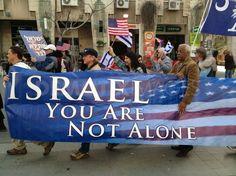"""Israel you are not alone, Amen.              Översättning: """"Israel du är inte ensam"""" Amen."""