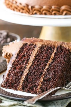 Easy Moist Chocolate Cake, Fluffy Chocolate Cake, Chocolate Butter Cake, Amazing Chocolate Cake Recipe, Best Chocolate Cake, Chocolate Recipes, Chocolate Buttercream, Buttercream Frosting, Chocolate Cake From Scratch
