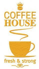 Coffee house machine embroidery design. Machine embroidery design. www.embroideres.com