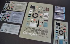 27 Festival Internacional Cinema Jove by Casmic Lab , via Behance