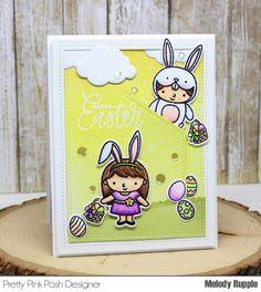 Pretty Pink Posh Blog Hop!! Handmade Cards Easter Easter Friends Stamp Set #prettypinkposh
