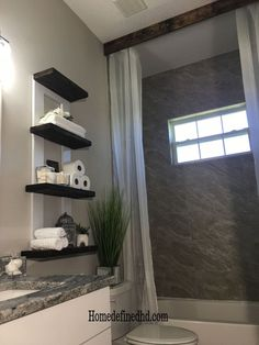 Cheap and easy storage ideas for your farmhouse home decor. Easy storage DIY ideas for your kitchen, living room, bedroom, laundry room and bathroom decor on a budget. #hometalk Diy Storage, Storage Spaces, Storage Ideas, Storage Solutions, Organization Ideas, Diy Fizzy Bath Salts, Toilet Shelves, Bathroom Shelves, Bathroom Storage