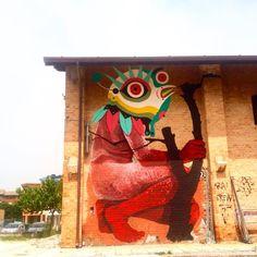 Gio Pistone + Nicola Alessandrini - Italian Street Artists - Ancona (IT) - 05/2015 - |\*/|  #giopistone #nicolaalessandrini #streetart