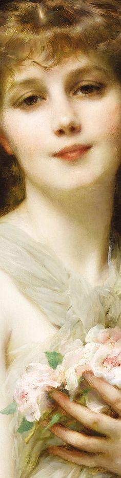 """Jeune femme"" by Etienne-Adolphe Piot (detail)"