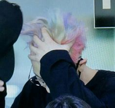 EXO · Chanyeol with 'RAINBOW' HAIR JSJFHFJ