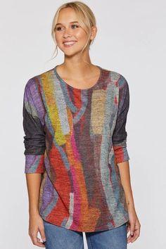 Mood Swing Soft Touch Dolman Sleeve Top by Claire Desjardins. #clairedesjardins #clairedesjardinsart #ClaireDesjardinsApparel #DesignerJacket #JeanJacket #cami #WomensApparel #WearableArt #designerclothing #apparel #designerapparel #artandfashion #fashionandclothing #artonclothing #abstractart #abstractpainting #designerclothes #womensapparel #Tunic #Dress #Jacket #MotoJacket #WomensTop #Dress