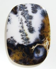 UniqueLarg Landscape Dendritic Moss Agate TREES (Collector's GemStone) 60 mm long and 40 mm wide and 4 mm thick