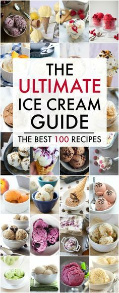 The Ultimate Ice Cream Guide Nothing says summer better than ice cream. Don't miss this Ultimate Ice Cream Recipes Guide. From traditional chocolate to raspberry sorbet and everything in between, you're sure to find the perfect summer treat. Ice Cream Treats, Ice Cream Desserts, Mini Desserts, Frozen Desserts, Frozen Treats, Fruit Ice Cream, Cold Desserts, Ice Cream Toppings, Oreo Dessert