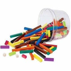 Learning Resources Cuisenaire Rods Small Group Plastic, Multicolor