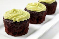 Vegan Chocolate Avocado Cupcakes with Avocado Buttercream Frosting -- oil-free