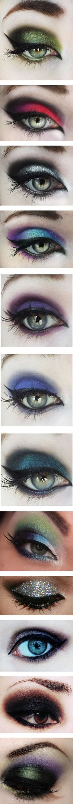 intense eye makeup #beauty #art