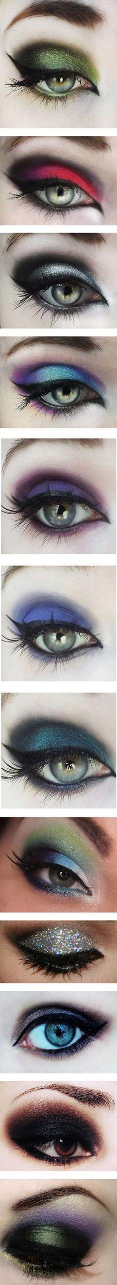 intense eye makeup #beauty #art