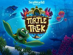 SeaWorld introduces first mobile game app, Turtle Trek. Free Mobile Games, Underwater Swimming, Animal Adaptations, Splash Screen, Game Logo, Game App, Sea World, Text Design, Cool Logo