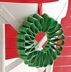 Green seat belt holiday wreath