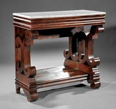 An American Classical Carved Mahogany Pier Table : Lot 1017 - My Wood Crafting