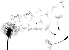 Image result for dandelion tattoo with kids names