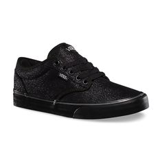 Atwood Black Sparkly Vans - $55 | I must be going through my skater phase because these are like the prettiest/coolest shoes ever!!!