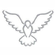 Use the printable outline for crafts, creating stencils, scrapbooking, and more. Free PDF template… (With images) Embroidery Stitches, Embroidery Designs, Bird Template, Catholic Crafts, Stencils, Stencil Templates, Christian Symbols, Church Banners, Bird Silhouette