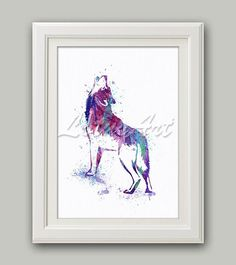 Purple Wolf Art Print 3 Wolf Howling Wolf Watercolor Print Wall Art Wolf Home Decor Wolf Nursery Decor Wolf Lover Gift Animal Lover Gifts