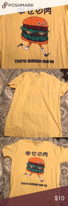 Burger shirt Yellow graphic t shirt from urban outfitters Threadless Tops Tees - Short Sleeve