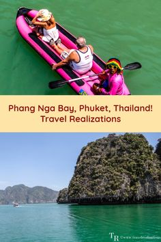 The Ao Phang Nga National Park famous for its classic karst scenery sea caves and lagoons is a part of Phang Nga Bay in Phuket Thailand. Phuket Travel, Thailand Travel Tips, Phuket Thailand, Uganda Travel, Asia Travel, Ao Phang Nga National Park, Sea Cave, Caribbean Cruise, Canoe
