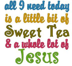 Instant Download All I Need Today is a by ChickpeaEmbroidery, $3.25