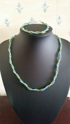 Check out this item in my Etsy shop https://www.etsy.com/uk/listing/246561637/evening-style-twisted-beaded-set
