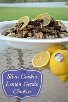 Slow Cooker Lemon Garlic Chicken Recipe. Add Flavor with Lemons Instead of Salt.